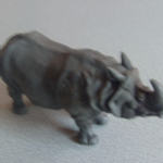 VINTAGE 1970 BRITAINS PLASTIC TOY RHINO 1:32 SCALE MODEL MINIATURE ZOO